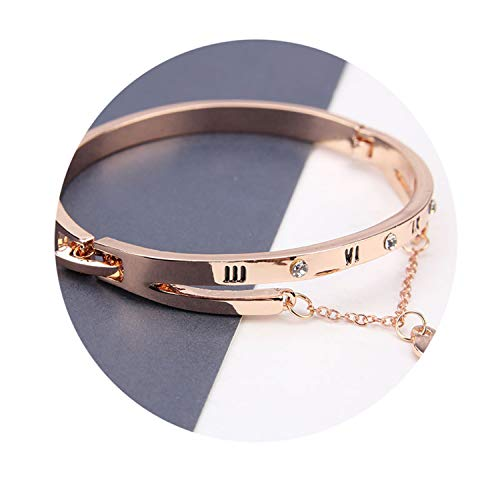 Exquisite Luxury Famous Pandora Jewelry Rose Gold Stainless Steel Bracelets & Bangles Female Heart Forever L]()