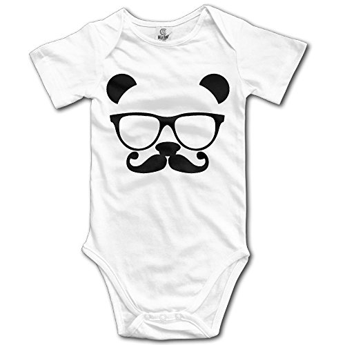 Pants Nerd Costume Girl (Girl Boy Clothing Panda Nerd With Glasses Short-Sleeveless Bodysuit Romper Playsuit Outfits)