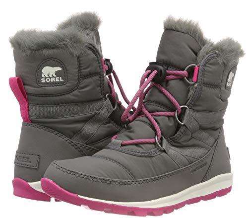 053 Sorel Da Neve Ultra Whitney Short Stivali Grigio Bambina Youth quarry Pink Lace pRp4q
