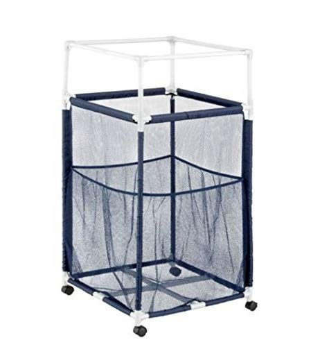 Essentially Yours Mesh Rolling Organizer Storage Bin, Standard Noodle Holder, Blue Pool Floats, Toys, Balls Equipment
