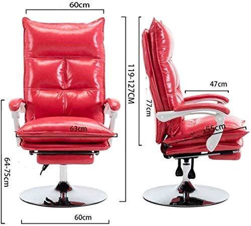Xiuyun Hög rygg kontorsstol ergonomisk skrivbordsstol PU-läder datorstol uppgift rullande svängbar pall verkställande stol med ländrygg stöd för hem och kontor