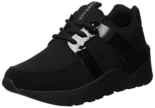 E899 Jeans Sneaker Noir Femme Versace Chaussures noir vpgqcHUxw