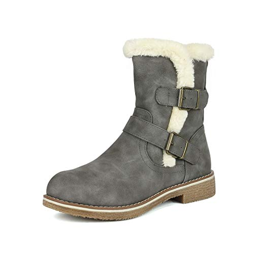 Lepore Grey Mid Calf Faux Fur Winter Boots Size 9 B(M) US ()