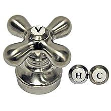 DANCO Cross-Arm Faucet Handle   Sink & Bathtub Handle   Single Handle   Brushed Nickel (89255)