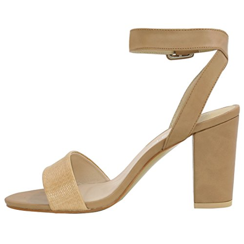 Allegra High K Tan Women Heel Strap Sandals Ankle rErqdR0n