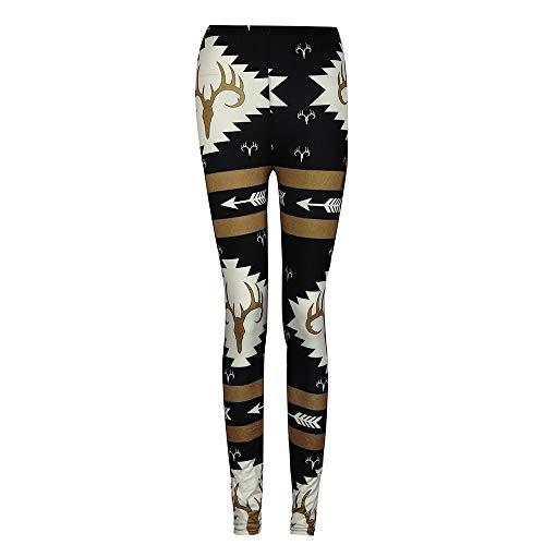 ZEFOTIM Clearance Fashion Women Skinny Printed Stretchy Pants Leggings (L,Black)