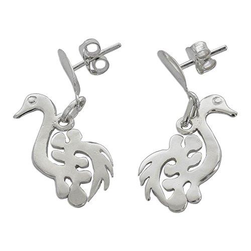 NOVICA .925 Sterling Silver Dangle Earrings 'New Adinkra' by NOVICA