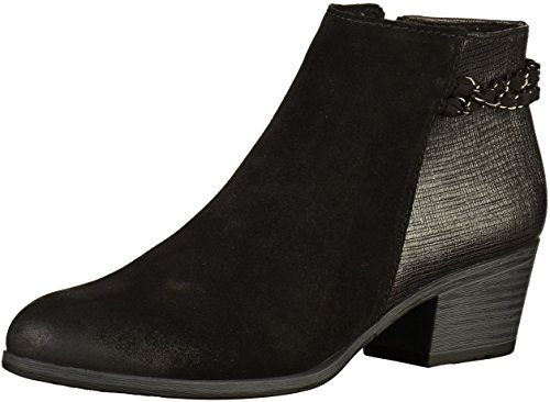 Combi Ankle Boots Carla Tozzi Heel Detail Womens Marco Black Block Chain Rvqgnw