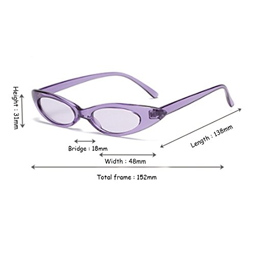 y sol Purple Cat Gafas Purple pequeñas Oval Hombres de vintage sol mujeres Designer Fuyingda Box de Gafas f5TUw