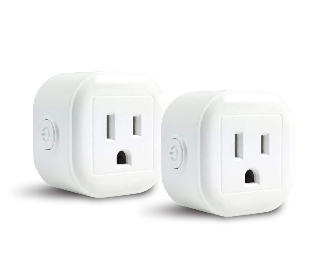 GoldenDot WiFi Mini Plug, Smart Home Power Control Socket, Wireless Control Your Household Appliance from Anywhere, No Hub Required, Compatible with Alexa and Google Home (2Pack)