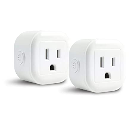 GoldenDot WiFi Mini Plug, Smart Home Power Control Socket, Wireless Control Your Household Appliance from Anywhere, No Hub Required, Compatible with Alexa and Google Home 2Pack
