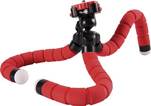 Rollei Monkey Pod - biegsames Mini-Stativ mit flexiblen Beinen inkl. Kugelkopf - rot