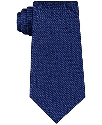 Blue Silk Tie Tonal (Michael Kors Men's Tonal Chevron Silk Tie, Navy, One Size)