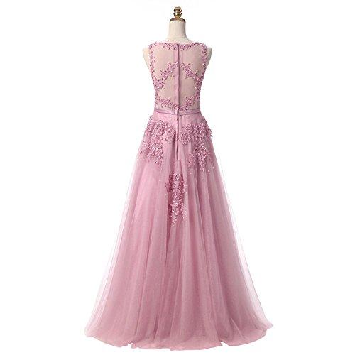 Brautjungfer A formales Langes Spitze Abendkleid bodycon Linie Aiyana Perlen Rot Kleid Tüll Prom OqvanwS