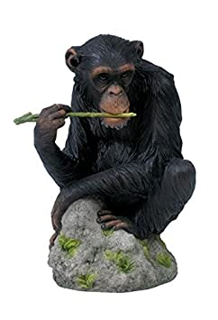 7 Inch Chimpanzee Animal Figure Chewing Stem Collectible Display