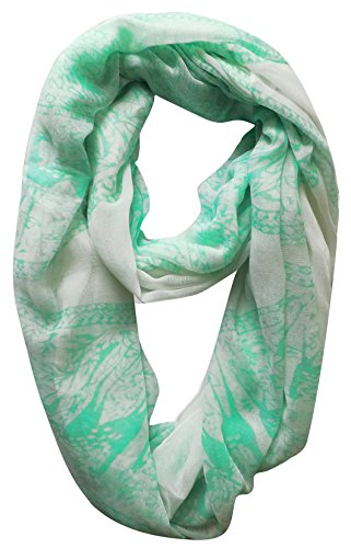 Peach Couture Luxury Deer Print Animal Print Nature Design Infinity Loop Scarf Wrap Scarf(Mint)