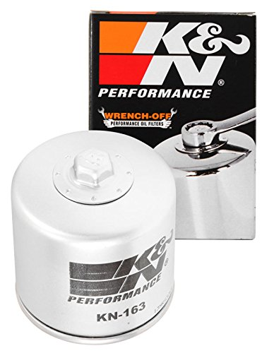 KN-163 K&N Performance Oil Filter; POWERSPORTS; CANISTER (Powersports Oil Filters):