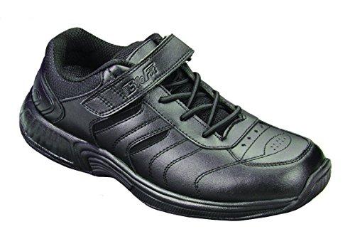 Orthofeet Steg Mens Komfort Extra Djup Ortopedisk Diabetiker Sneakers Rem Och Spets