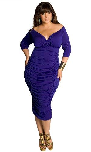 IGIGI Women's Plus Size Ambrosia Dress in Royal 18/20