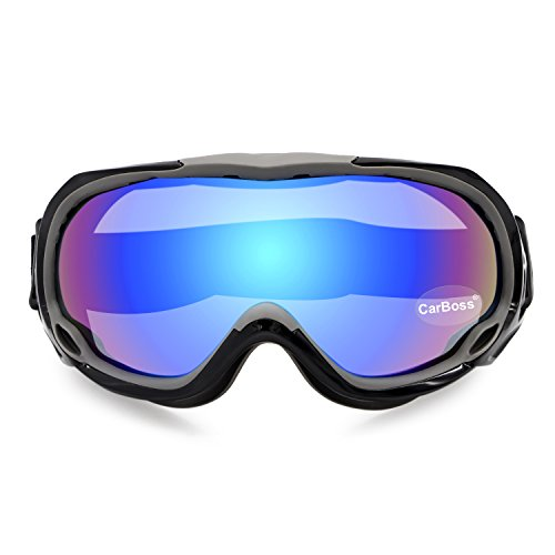 CarBoss Motorcycle Goggles Anti-Fog/UV Eye Protection Fitover Glasses Goggle Military Combat Eyewear Tactical Goggles Outdoor Sunglasses for Motocross Cycling, Skiing (Colorful - Eyewear Combat