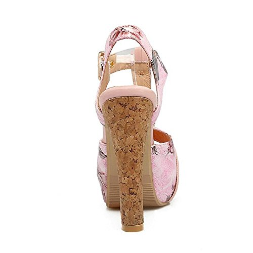 Sandals Strap Women Shoes T Pink TAOFFEN H8761nx