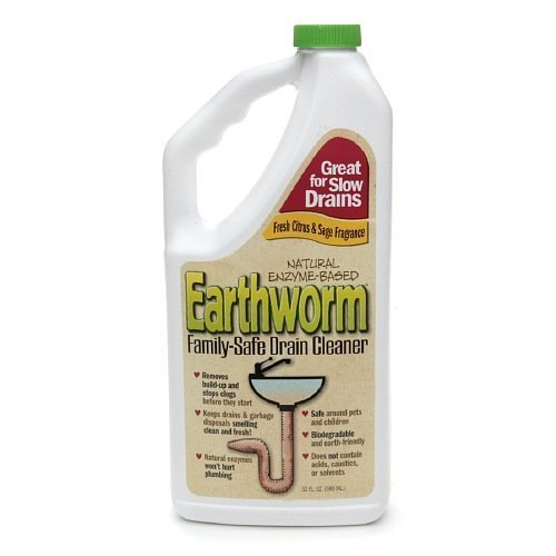 Earthworm Natural Enzyme-Based Family-Safe Drain Cleaner 32 fl oz by Earthworm
