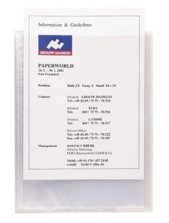 ELBA 100206087 Kunststoff-Sichtbuch polyvision DIN A4 individualisierbares Pr/äsentations-Buch Mappe mit 20 eingeschwei/ßten H/üllen blau