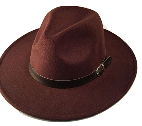 [Brown Mens Deluxe Felt Trilby Western Mobster Cowboy Gangster Costume Accessory] (Womens Western Costumes)