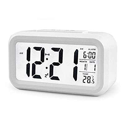 ZHPUAT 5.3 Morning Clock,Low Light Sensor Technology,Light On Backligt When Detect Low Light,Soft Light That Won't Disturb The Sleep,Progressively Louder Wakey Alarm Wake You Up Softly.