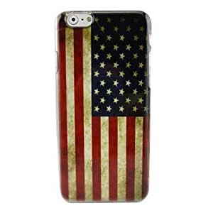 LZX Retro American Flag Plastic Hard Back Cover for iPhone 6 Plus