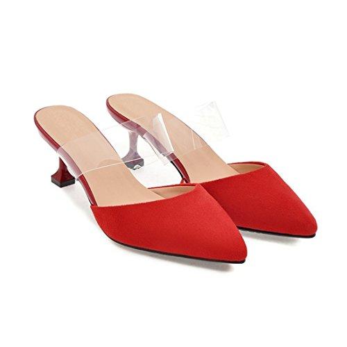 y y De Treinta Sandalias Sandalias Sandalette Mujer DEDE Siete Gules De Moda para Sexy q7Pt5