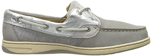 Boat Silver Metallic Sider Shoe Bluefish Women's Sperry Top Grey qFOwaBwI4