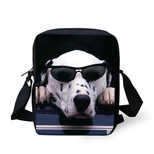 - HUGS IDEA Dog Printed Funny Mini Handbags Small Crossbody Bag Totes Bags Kid School Bag Boy Purse Wallet