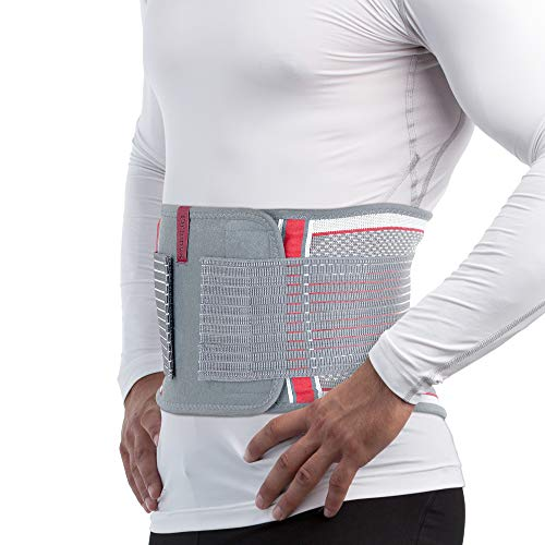 ORTONYX Back Brace Lumbar Support Belt with Removable Lumbar Pad for Lower Back Pain Relief - Support Belt for Sciatica