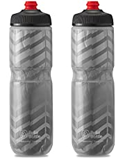 Polar Bottle Breakaway Insulated Bike Water Bottle 2-Pack - BPA Free, Cycling & Sports Squeeze Bottle (Bolt Charcoal 24oz) Black Bolt - 2 Pack KIT22402