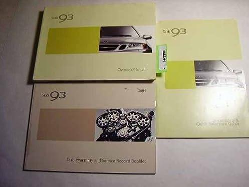 2004 saab 9 3 93 owners manual saab amazon com books rh amazon com 2004 saab 9-3 aero convertible owners manual saab 9-3 2004 owners manual pdf