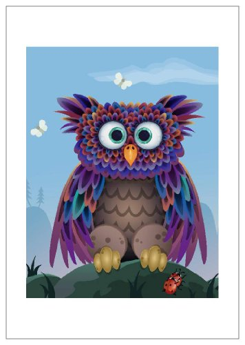 NW Pitney Ink Hoot Birthday Card, 5 x 7 Inches (1072BD)