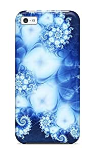 Tpu Aaron Nelson Shockproof Scratcheproof Amazing Blue Fractal Other Hard Case Cover For Iphone 5c