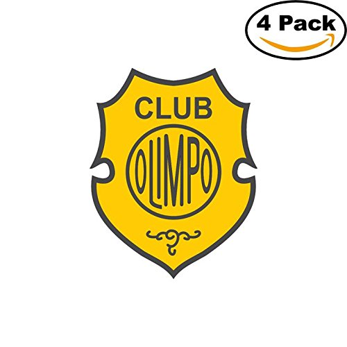fan products of Club Olimpo de Bahia Blanca Argentina Soccer Football Club FC 4 Stickers Car Bumper Window Sticker Decal 4X4