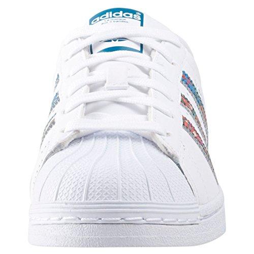 Adidas Sneaker Damen SUPERSTAR BY9177 Weiß weiß (Ftwbla / Ftwbla / Aguama)