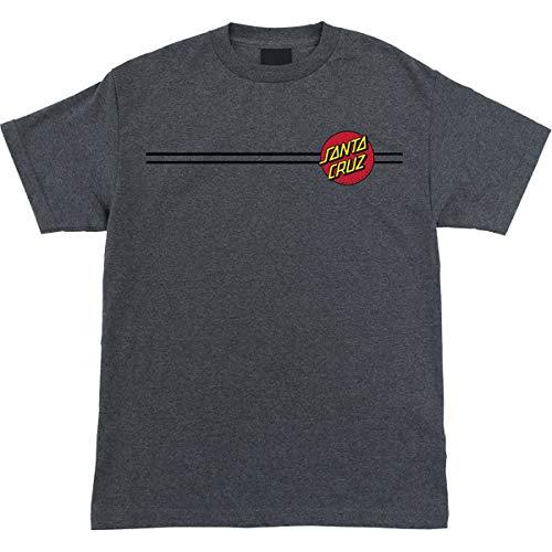 (Santa Cruz Men's Classic Dot Shirt,X-Large,Charcoal Heather)