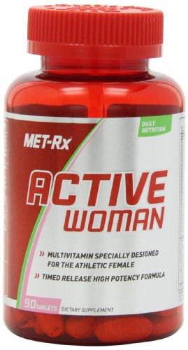 MET-Rx Active Woman Multivitamin, 90 count, Comprehensive Multivitamin for Active, Athletic Women, Vitamins, Minerals and Antioxidants