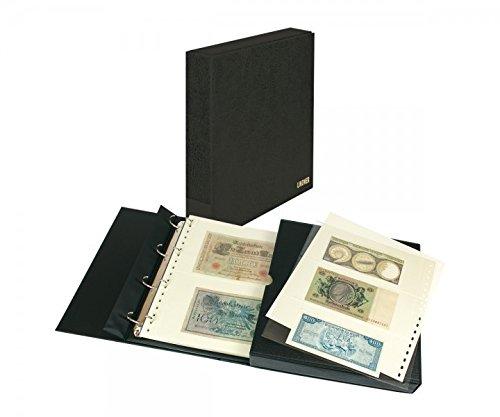 Banknoten-Album ECO [Lindner 1100BNW] mit 20 Klarsichthüllen für Banknoten, Farbe: schwarz