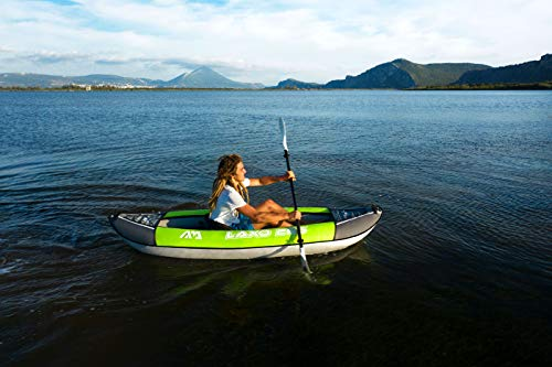 41KBAC0ydaL Aquamarina Unisex– Erwachsene Kayak 1 Posto Laxo-285 Kajak, Grün Schwarz, Uni