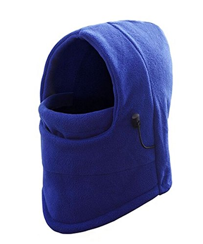 Price comparison product image WSLCN Unisex Kids Multifunction Thermal Fleece Balaclava Hood Snood Ski Snowboarding Mask Cycling Sports Hat Headwear Blue