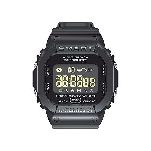 (FEDULK Sports Smart Watch Step Counter Waterproof Information Notification Smart Band Wristwatch(Black))