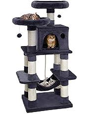 i.Pet Premium Cat Tree 70/145cm Trees Scratching Post Scratcher Tower Condo House Furniture