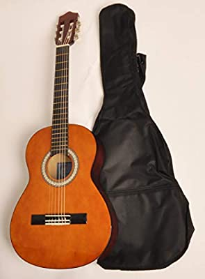 Zurdos Guitarra Acústica Clásica (3/4 tamaño (36 pulgadas) bolsa ...