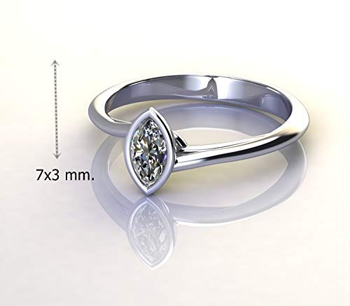 - 0.30 Carat Gia Natural Diamond marquise Cut Beautiful Wedding Ring