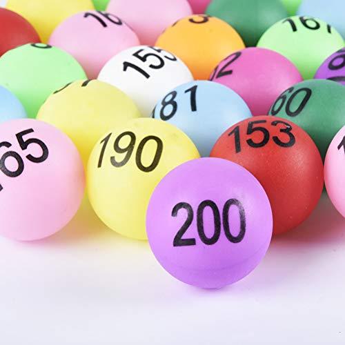 NUOLUX 抽選ボール 抽選 ピンポン玉 カラフル 番号付木ボール ビンゴ玉 100個